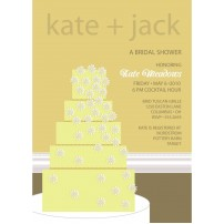 Wedding Cake Bridal Shower Printable Invitation - Yellow